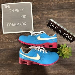 Size 3 Nike's blue and pink